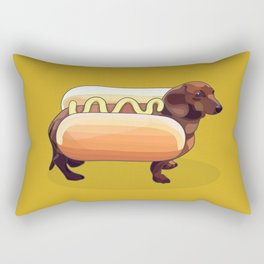 Dachshund Wiener Hot Dog Rectangular Pillow