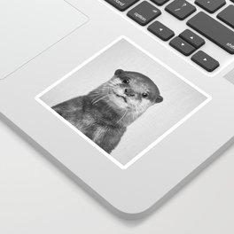 Otter - Black & White Sticker