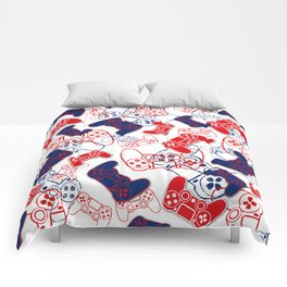 Video Games Red White & Blue 3 Comforters