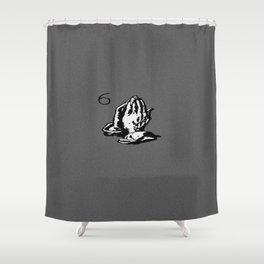 Drake Praying Hands 6 Shower Curtain