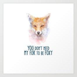 Fox Head Watercolor Foxy Art Print