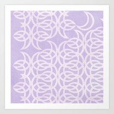 Purple Lunar Art Print