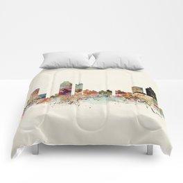 atlanta georgia skyline Comforters