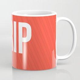 Drip Red Design Coffee Mug