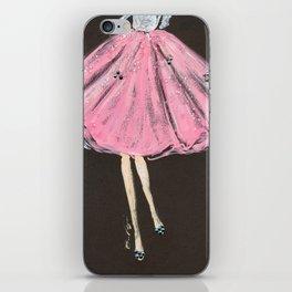 Jolie Pink Fashion Illustration iPhone Skin