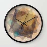 moon phase Wall Clocks featuring It's Just  A Phase by Anai Greog