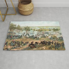 Battle Of Gettysburg -- American Civil War Rug