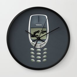 Retro classic Handphone iPhone 4 5 6 7, pillow case, mugs and tshirt Wall Clock