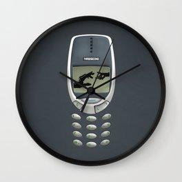 Retro classic Handphone iPhone 4 5 6 7, pillow case, mugs and tshirt Wall Clock