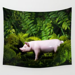 A pig in the woods Wall Tapestry