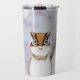 chipmunk woodland animal portrait Travel Mug