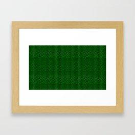 Binary Green Framed Art Print