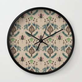 flounder  fish vintage dream Wall Clock