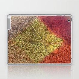 Golden leaves with purple pink and orange metallic look Laptop & iPad Skin