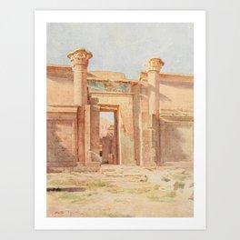 Tyndale, Walter (1855-1943) - Below the Cataracts 1907, The Ptolemaic Pylon, Medinet Habu Art Print