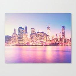 New York City Skyline - Lights Canvas Print
