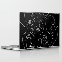 Faces in Dark Laptop & iPad Skin