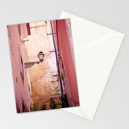 Pink Alley in Lisbon Stationery Cards