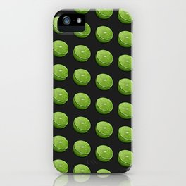 Green Limey Limes on Black iPhone Case