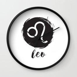 Leo Zodiac Signs Symbols Wall Clock