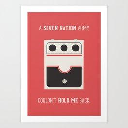 White Striped Art Print