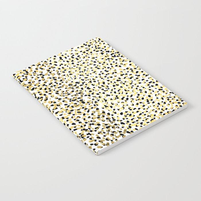 Salna - gold foil modern black and gold gender neutral art abstract design decor minimal trendy urba Notebook
