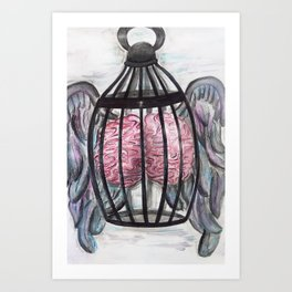 The Caged Brain Art Print