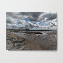 Cloudy Beaches Metal Print
