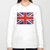 union jack Long Sleeve T-shirts featuring Union Jack by MICHELLE MURPHY