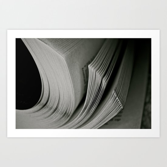 Books. Art Print