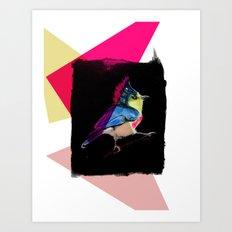 Neon Bird Art Print