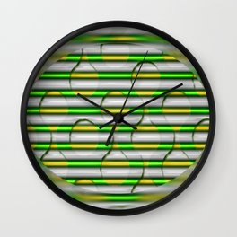 Hole in the fog Wall Clock