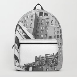 New Yorker Sign - NYC Black and White Backpack