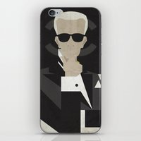 karl lagerfeld iPhone & iPod Skins featuring Karl by B_U_R_T