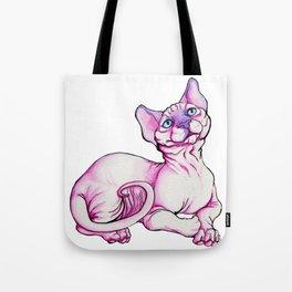 Sphynx Cat Watercolor Tote Bag