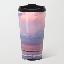 Pink sunset at the beach Travel Mug