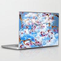 sakura Laptop & iPad Skins featuring SAKURA by sametsevincer