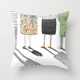My shadow is shrinking!  Throw Pillow