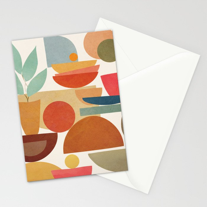 Modern Abstract Art 78 Stationery Cards