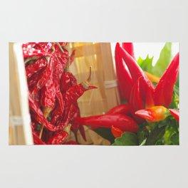 Hot chili pepper for kitchen design Rug