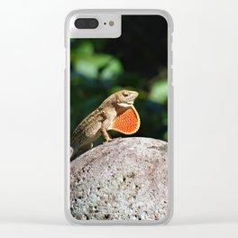 Hawaiian Lizard Clear iPhone Case