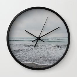 a stormy Pacific Ocean, Oceanside, California Wall Clock