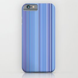 Abstract Vertical Cool Blue stripes iPhone Case