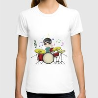chibi T-shirts featuring Chibi Drummer by Jelo