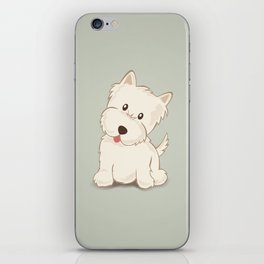 Westie Dog Illustration iPhone Skin