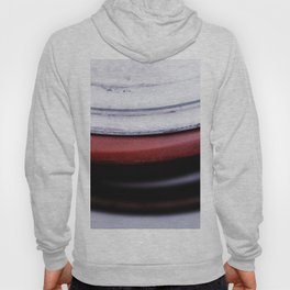 Abstract Coils In Red And White Hoody