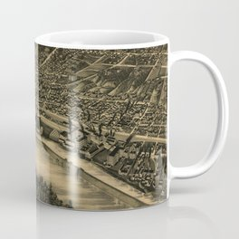 Vintage Pictorial Map of Moline IL (1889) Coffee Mug