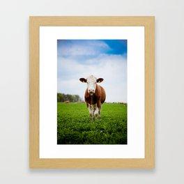Die Kuh macht Muh Framed Art Print