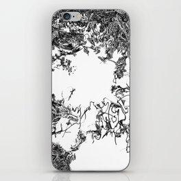 Babylon No. 1 (Detail) | Black & White iPhone Skin