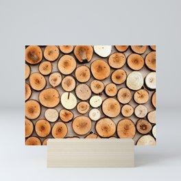 Colorful Wooden Cuttings Mini Art Print